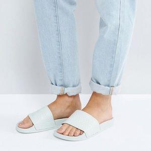 Adidas Mint Adilette Slides